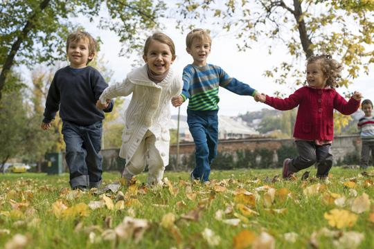 djeca park jesen